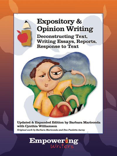 informational expository opinion writing