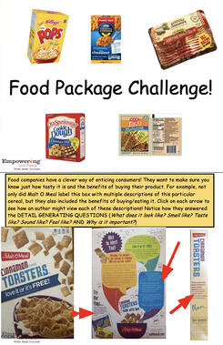 Food Package Challenge Lesson Image