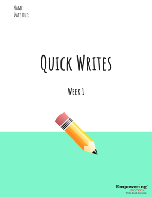 Distance Learning Lessons Quick Writes